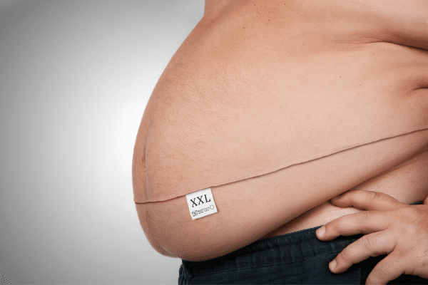 person with big belly